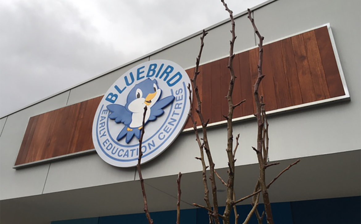 Bluebird Early Learning Centre Sign
